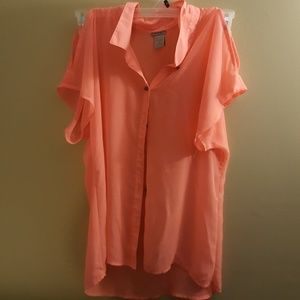 Charlotte russe open sleeve blouse